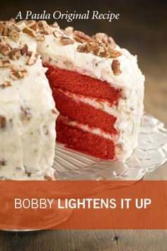 Bobby's Lighter Red Velvet Cake