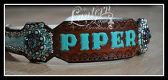 Custom martingale dog collars antique silver spots/conchos
