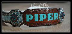 Custom martingale dog collars antique silver spots/conchos