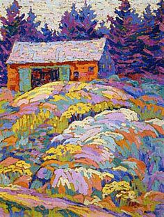 Landscape With Barn Lawren Harris, Canadian Group of Seven Tom Thomson, Emily Carr, Canada Landscape, Landscape Art, Landscape Paintings, Small Paintings, Art Paintings, Group Of Seven Art, Group Of Seven Paintings