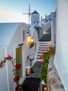 Path in Oia by Ed Peters