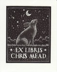 Confessions of a Bookplate Junkie: A Herd of Rabbits , Part 2   Woodcut by Andy English