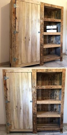 Pallets Old Attractive Diy Shipping Pallets Cabinet Ideas Pallet Furniture Sofa, Backyard Furniture, Diy Furniture, Pallet Sofa, Furniture Stores, Kitchen Furniture, Pallet Wall Decor, Wooden Pallet Projects, Wooden Pallets