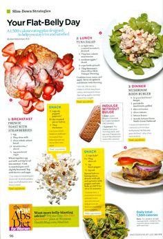 Weight Loss Aficionado: Your Flat Belly Day: Women's Health Magazine
