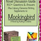 Mockingbird by K. Erskine: Novel Discussion Guide for Teachers Literature Discussion/Comprehension Guide contains: -Over 160 questions over chapter... $ priced