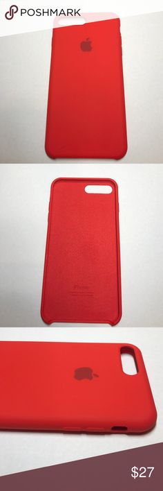 Original Apple silicone case red iPhone 7 Plus New Apple Silicone case for the iPhone 7 Plus. No packaging. Iphone 5s, Apple Iphone, Iphone Cases, Iphone 7 Plus Red, Samsung, Cute Cases, Red Apple, Cell Phone Accessories, Gadgets