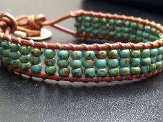 seed bead triple wrapped / love the softness of this I enjoy making these cso