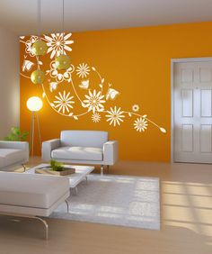 Some wall decals may come in multiple pieces due to the size of the design. Vinyl wall decals are removable but not re-positionable. Home Interior, Interior Design Living Room, Living Room Decor, Room Colors, Wall Colors, Diy Wall Painting, Painting Textured Walls, Bedroom Wall Designs, Vinyl Wall Decals