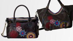 #Desigual Tasche - Modell Bols Loverty Amber und Bols Rotterdam Amber. Muster: Mandala, schwarz.