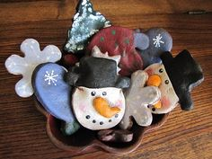 Punkin Seed Productions: Salt Dough Ornament Bowl Fillers - Winter Mix & a Give Away!!!!