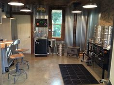 A workshop converted to brewery.