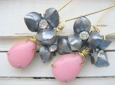 Marilyn dangle earrings 50s mad men style by ThreeWishesStudio, $24.00