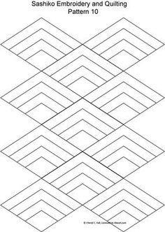 10 free sashiko patterns