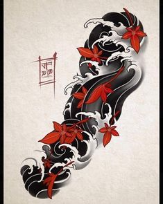 Japanese Wave Tattoos, Japanese Tiger Tattoo, Japanese Flower Tattoo, Japanese Tattoo Designs, Japanese Sleeve Tattoos, Small Japanese Tattoo, Japanese Tattoo Meanings, Japanese Tattoo Women, Bow Hunting Tattoos