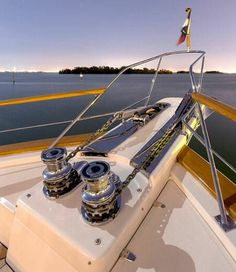 Most Fleming 65s opt for a pair of hydraulic windlasses rather than the standard 24-volt DC windlass. Other options include dual electric windlasses or one electric and one hydraulic for complete system redundancy to this vital system in parts of the world without marinas.