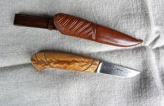 Kniv av stabiliserad björkklyka