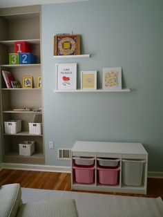 Trofast unit is essential to keep the little ones MILLIONS of toys hidden! Of course we would have green drawers in keeping with our wonderful room! Green Drawers, Ikea Toys, Toy Rooms, Kids Rooms, Ikea Usa, All Kids, Kids Room Design, Toy Storage, Floating Shelves