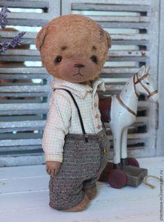 Купить Ваня - мишка, мишка тедди, мишка ручной работы, коллекционные игрушки, коллекционные медведи