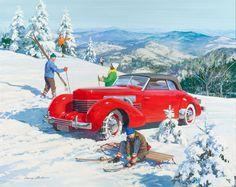 Автомобильная красота в иллюстрациях Гарри Андерсона