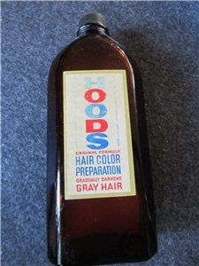 Vintage HOODS Hair Color Preparation for Gray Hair by kookykitsch, $21.00