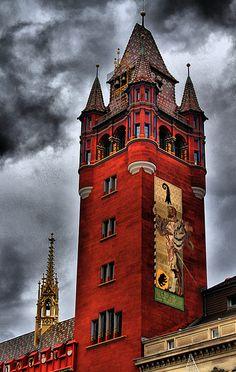 Rathaus ~ Marktplatz, Basel, Suisse (photo by Maria Victoria Guerrero Catalán, Plasencia, España)....I lived here for several months......on the Marktplatz.........
