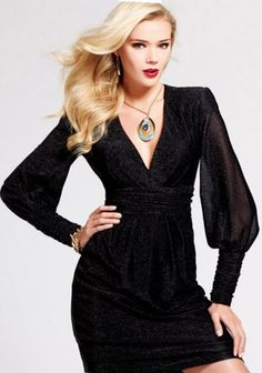 Long Sleeve Glamour Cocktail Dress