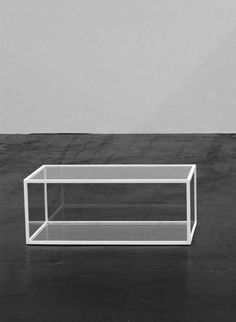 lasse schmidt hansen Untitled text (after Katarzyna Kobro), 2011, Glass, wood, paint Dimensions variable