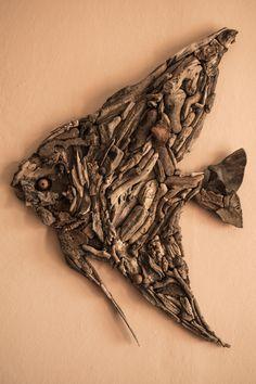 driftwood, art, iterioor design, fish, wood, design