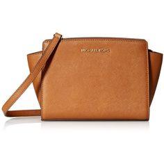 Women's MICHAEL Michael Kors Women's Selma Medium Messenger Bag (€165) ❤ liked on Polyvore featuring bags, messenger bags, luggage, michael kors, courier bag, michael kors messenger bag and brown messenger bag