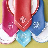 Love the monogrammed cloth napkins!