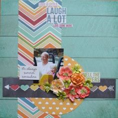 Layout created by Wini van Broekhuijze using our I Heart Summer collection