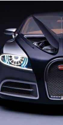Luxury car black Bugatti