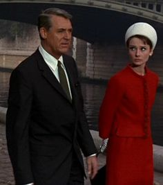 """Cary Grant and Audrey Hepburn in the romantic mystery-thriller Charade (Stanley Donen, It was called """"the best Hitchcock film that Hitchcock never made. Cary Grant, Charade Movie, Charade 1963, Golden Age Of Hollywood, Classic Hollywood, Old Hollywood, Hollywood Style, Audrey Hepburn Charade, Divas"""