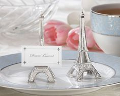 "Paris Theme - ""Evening in Paris"" Place Card/Photo Holder (Sets of 4) $9.45"