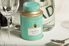 Fortnum & Mason special tins of BAFTA tea will be on the tables of tonight's event as well as in the goodie bags