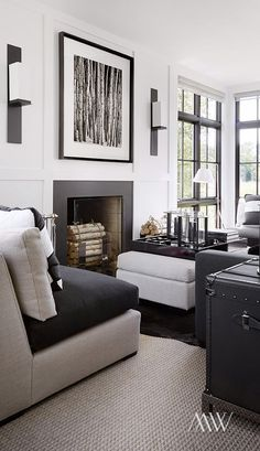 Modern, yet still cozy w/ black + white color story | Megan Winters