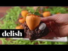 Best Carrot Patch Brownies - How to Make Carrot Patch Brownies - Delish.com