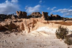 The Ojito Badlands are located  in northwestern New Mexico (in Sandoval County) southwest of the village of San Ysidro. They are often considered one of the nine San Juan Basin Badlands and were designated as an Official Wilderness in 2005.