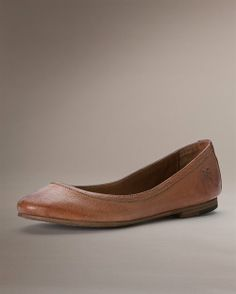 Carson Ballet- Our Carson ballet flat is soft and flexible, something you'll want to wear 24/7, a shoe with the comfort of a slipper. - http://www.thefryecompany.com/womens-shoes/view-all/72130/carson-ballet