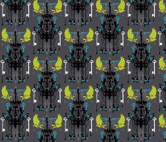 haunted fabric by michellefreedman on Spoonflower - custom fabric