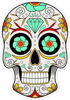 Dia de los Muertos  iron-on Patches by Jewelsart1 on Etsy