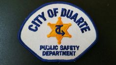 Duarte Dept. of Public Safety Patch, Los Angeles County, California (Code Enforcement Officer - Current 1989 Issue)