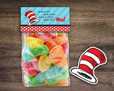 Instant Download, Printable Dr. Seuss Treat Bag Toppers or Tent Cards. Great for a birthday party or baby shower. By Studio20Designs, $2.00