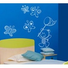 Teddy bear wall decal Bubbles and Baloons