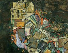 """Egon Schiele, """"Stadtende (Häuserbogen III)"""", 1917/18 Oil on canvas, 109,4 x 139,4 cm, Photo: Universalmuseum Joanneum / N. Lackner"""