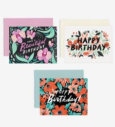 Graphic Design - Graphic Design Ideas  - Floral Birthday Card Set by Idlewild Co. on Scoutmob   Graphic Design Ideas :     – Picture :     – Description  Floral Birthday Card Set by Idlewild Co. on Scoutmob  -Read More –