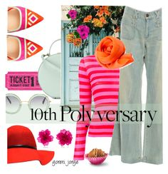 """Celebrate Our 10th Polyversary!"" by goreti ❤ liked on Polyvore featuring Miu Miu, Tammy & Benjamin, Ermanno Scervino, Current/Elliott, Nicholas Kirkwood, Matthew&Melka, polyversary and contestentry"
