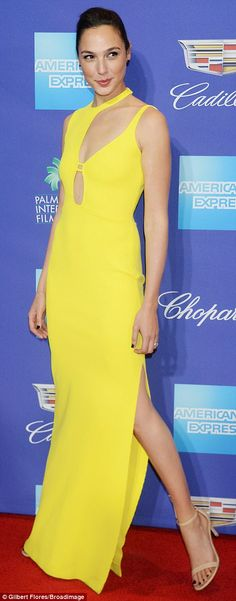 Hello sunshine!Gal Gadot, 32, was spotted at the 29th Annual Palm Springs International F...