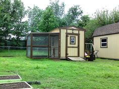 Someone else converted a portion of their backyard shed to a chicken coop. This is pretty much what we had in mind. There are some great pointers in here.