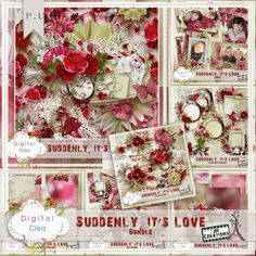 "Scrapbooking im Rollinest: ""SUDDENLY IT'S LOVE"" Collection und Freebie by J&MCreations"